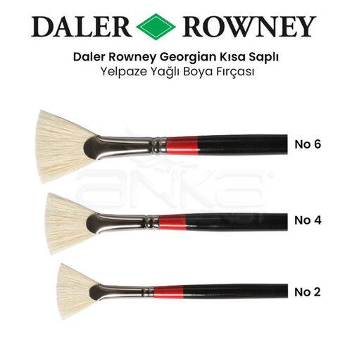 Daler Rowney Georgian Uzun Saplı Yelpaze Fırça