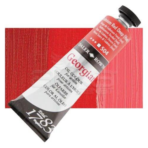 Daler Rowney Georgian Yağlı Boya 38ml No:504 Cadmium Red Deep (Hue) - 504 Cadmium Red Deep (Hue)