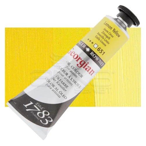 Daler Rowney Georgian Yağlı Boya 38ml No:651 Lemon Yellow - 651 Lemon Yellow