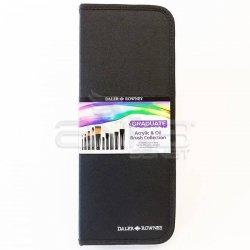 Daler Rowney - Daler Rowney Graduate Akrilik ve Yağlı Boya Fırça Seti 10lu Çantalı 212500110 (1)