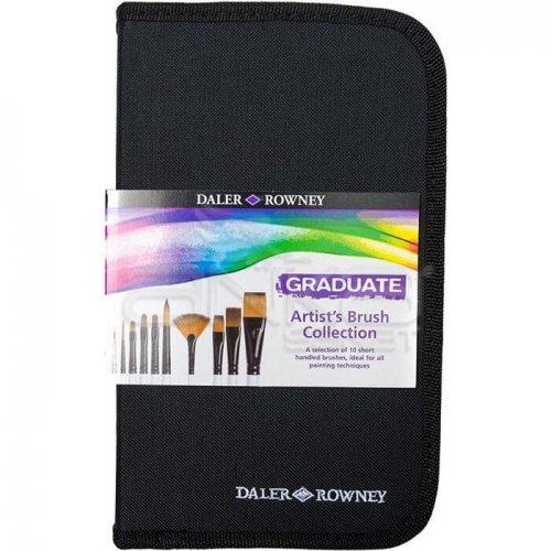 Daler Rowney Graduate Akrilik Boya Fırça Seti 10lu Çantalı 212500100