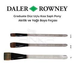 Daler Rowney - Daler Rowney Graduate Düz Uçlu Kısa Saplı Pony Fırça