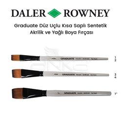 Daler Rowney Graduate Düz Uçlu Kısa Saplı Sentetik Fırça - Thumbnail