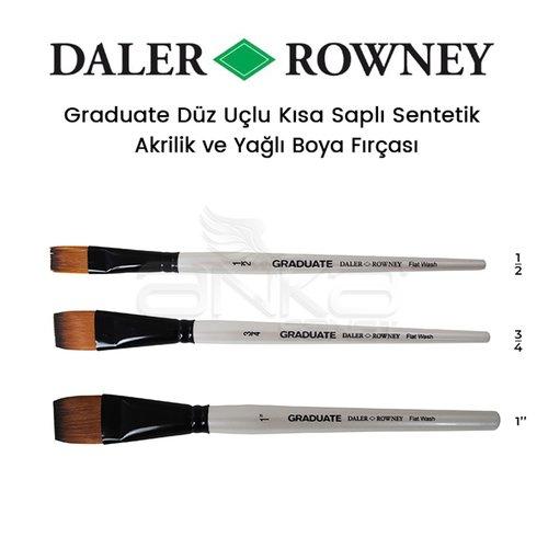 Daler Rowney Graduate Düz Uçlu Kısa Saplı Sentetik Fırça