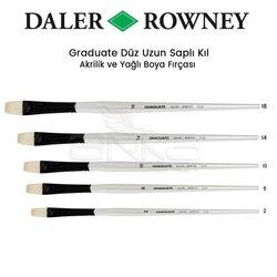 Daler Rowney Graduate Düz (Brigth) Uzun Saplı Kıl Fırça - Thumbnail