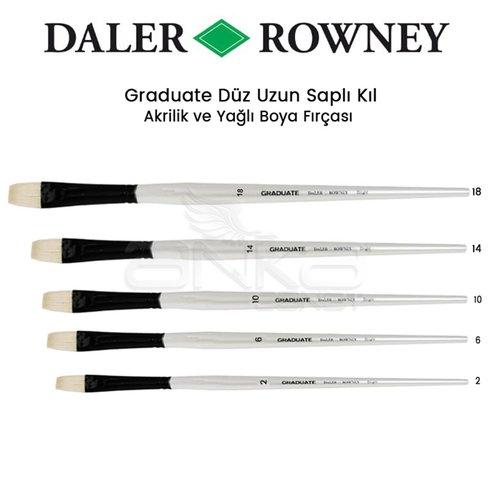 Daler Rowney Graduate Düz (Brigth) Uzun Saplı Kıl Fırça