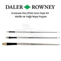 Daler Rowney Graduate Düz (Flat) Uzun Saplı Kıl Fırça - Thumbnail