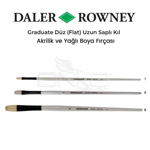 Daler Rowney Graduate Düz (Flat) Uzun Saplı Kıl Fırça