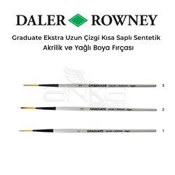 Daler Rowney - Daler Rowney Graduate Ekstra Uzun Çizgi Kısa Saplı Sentetik Fırça