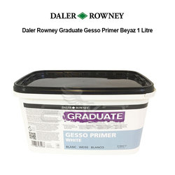Daler Rowney Graduate Gesso Primer Beyaz 1 Litre - Thumbnail