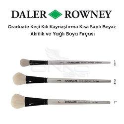 Daler Rowney - Daler Rowney Graduate Keçi Kılı Kaynaştırma Kısa Saplı Fırça Beyaz