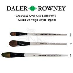 Daler Rowney - Daler Rowney Graduate Oval Kısa Saplı Pony Fırça