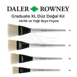 Daler Rowney - Daler Rowney Graduate XL Düz Doğal Kıl Fırça