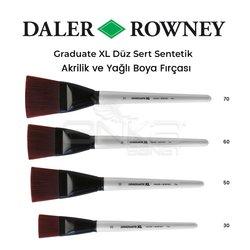 Daler Rowney Graduate XL Düz Sert Sentetik Fırça - Thumbnail