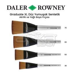 Daler Rowney - Daler Rowney Graduate XL Düz Yumuşak Sentetik Fırça