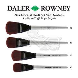 Daler Rowney - Daler Rowney Graduate XL Kedi Dili Sert Sentetik Fırça