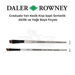 Daler Rowney - Daler Rowney Graduate Yan Kesik Kısa Saplı Sentetik Fırça
