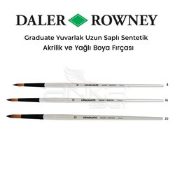 Daler Rowney Graduate Yuvarlak Uzun Saplı Sentetik Fırça - Thumbnail