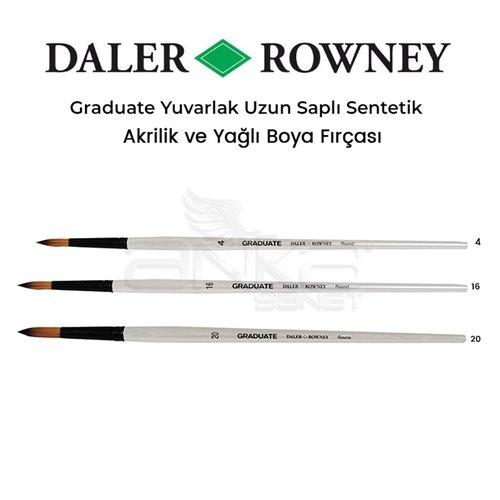 Daler Rowney Graduate Yuvarlak Uzun Saplı Sentetik Fırça