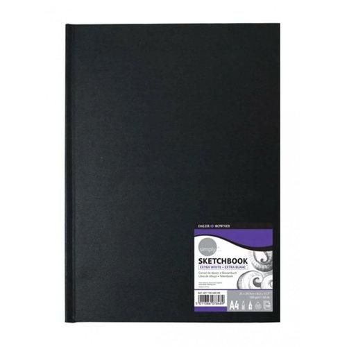 Daler Rowney Hardback Sketchbook Extra White Sert Kapak Çizim Defteri 100g 110 Yaprak