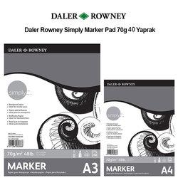 Daler Rowney - Daler Rowney Simply Marker Pad 70g 40 Yaprak