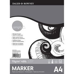 Daler Rowney - Daler Rowney Simply Marker Pad 70g 40 Yaprak (1)