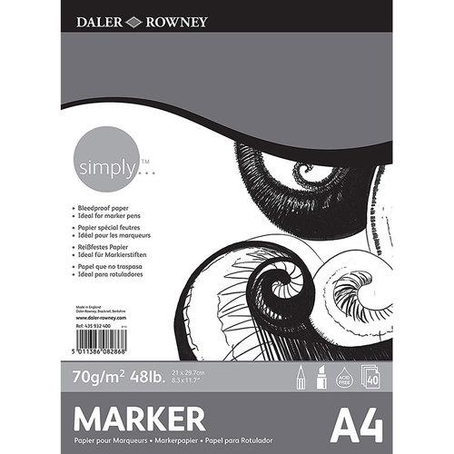 Daler Rowney Simply Marker Pad 70g 40 Yaprak
