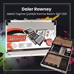 Daler Rowney - Daler Rowney Metal Taşıma Çantalı Karma Resim Seti 122li (1)