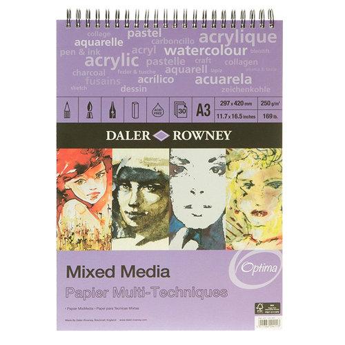 Daler Rowney Mixed Media 250g 30 Yaprak
