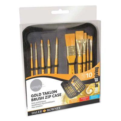 Daler Rowney Simply Acrylic Gold Fırça Seti Çantalı