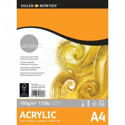 Daler Rowney - Daler Rowney Simply Acrylic Pad 16 Yaprak 190g (1)