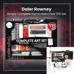 Daler Rowney - Daler Rowney Simply Complete Karma Resim Seti 115li Set (1)