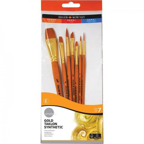 Daler Rowney Simply Gold Taklon Synthetic 7li Fırça Seti 700