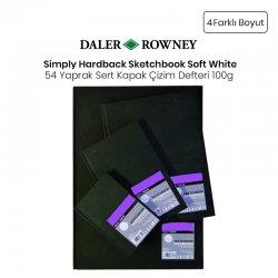 Daler Rowney - Daler Rowney Simply Hardback Sketchbook Soft White Sert Kapak Çizim Defteri 54 Yaprak 100g