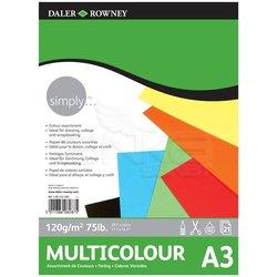 Daler Rowney - Daler Rowney Simply Multicolour Blok 120g 21 Yaprak (1)