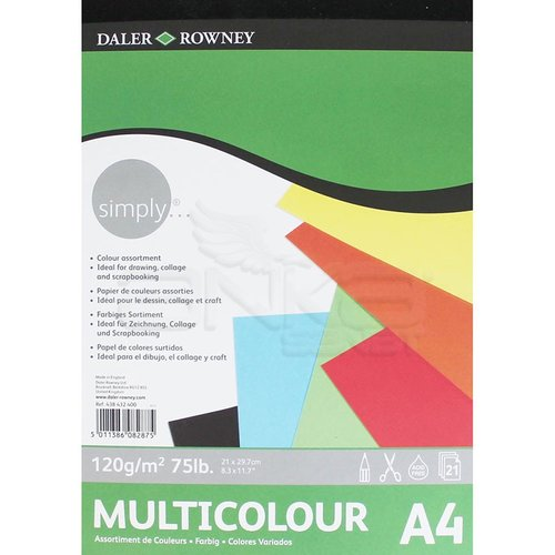 Daler Rowney Simply Multicolour Blok 120g 21 Yaprak