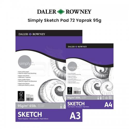 Daler Rowney Simply Sketch Pad 72 Yaprak 95g