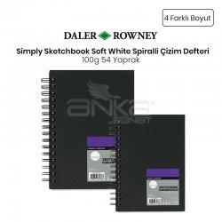Daler Rowney - Daler Rowney Simply Sketchbook Soft White Spiralli Çizim Defteri 100g 54 Yaprak