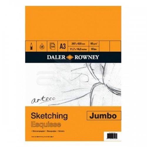 Daler Rowney Arteco Sketching Esquisse Jumbo Spiralli Çizim Defteri 95g 120 Yaprak A3