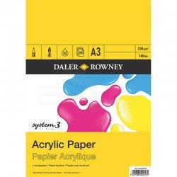 Daler Rowney - Daler Rowney System 3 Acrylic Paper 230g 20 Yaprak (1)