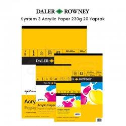 Daler Rowney - Daler Rowney System 3 Acrylic Paper 230g 20 Yaprak