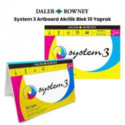 Daler Rowney - Daler Rowney System 3 Artboard Akrilik Blok 10 Yaprak