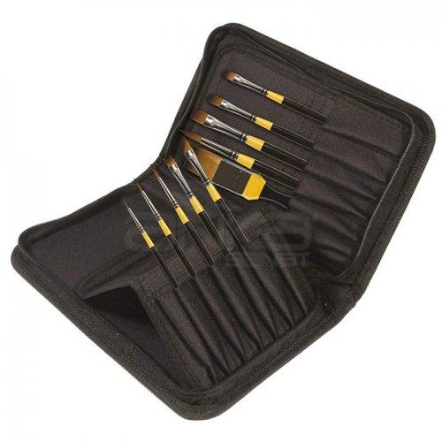 Daler Rowney System 3 Brush Classic Zip Cases Kısa Saplı Sentetik Fırça 10lu 281300110