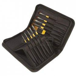 Daler Rowney - Daler Rowney System 3 Brush Classic Zip Cases Kısa Saplı Sentetik Fırça 10lu 281300110 (1)