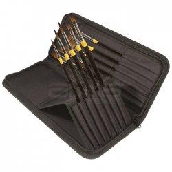 Daler Rowney - Daler Rowney System 3 Brush Heavy Body Zip Cases Uzun Saplı Sentetik Fırça 10lu 281300111 (1)