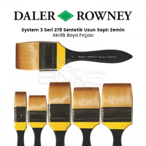 Daler Rowney System 3 Seri 278 Sentetik Uzun Saplı Zemin Fırçası