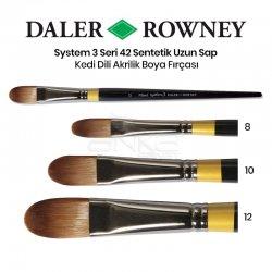 Daler Rowney - Daler Rowney System 3 Seri 42 Sentetik Uzun Sap Kedi Dili Fırça