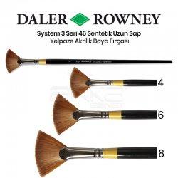 Daler Rowney - Daler Rowney System 3 Seri 46 Sentetik Uzun Sap Yelpaze Fırça