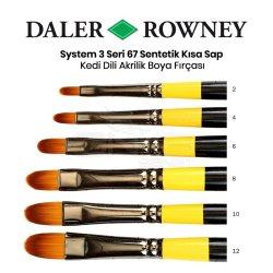 Daler Rowney - Daler Rowney System 3 Seri 67 Sentetik Kısa Sap Kedi Dili Fırçası