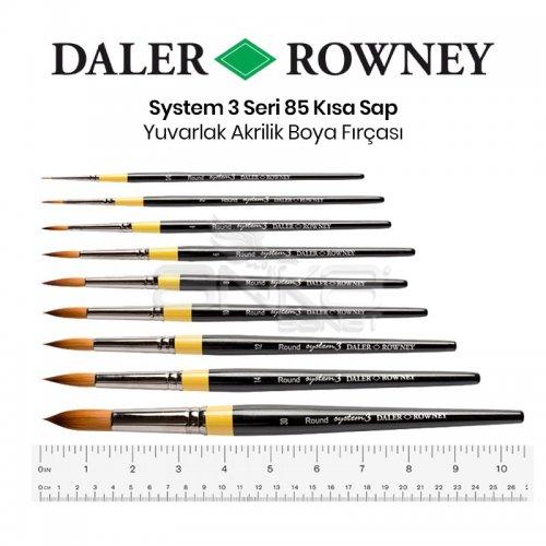Daler Rowney System 3 Seri 85 Yuvarlak Sulu Boya ve Akrilik Boya Fırçası